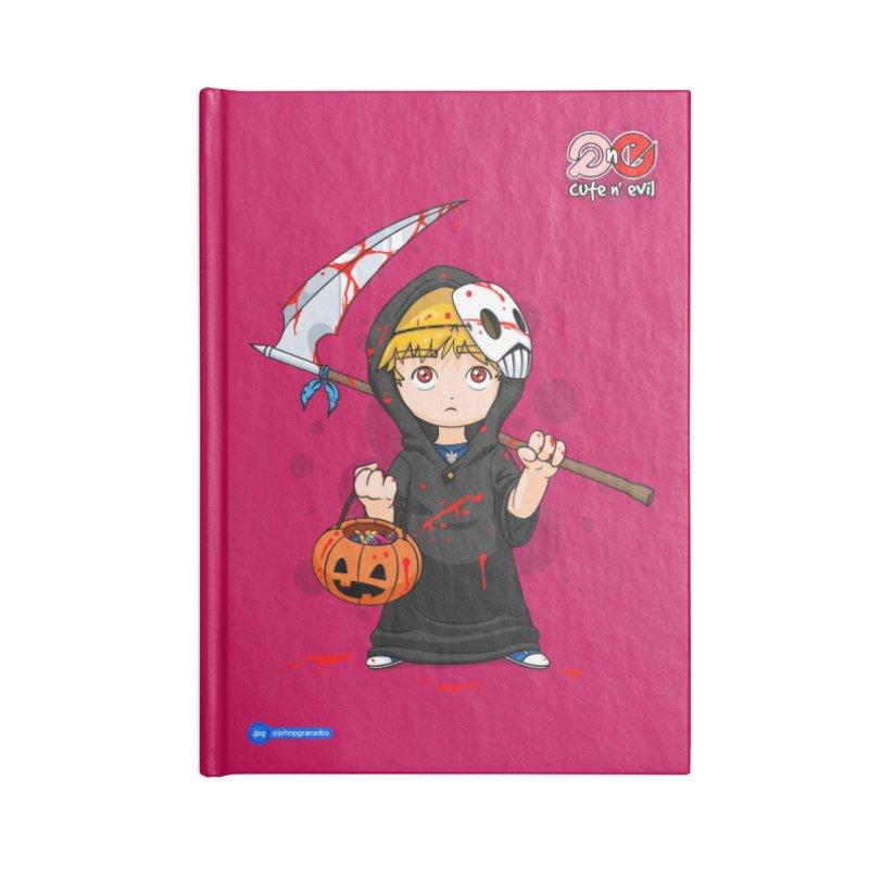 scythe - cute n' evil Accessories Notebook by Juan Pablo Granados - .jpg