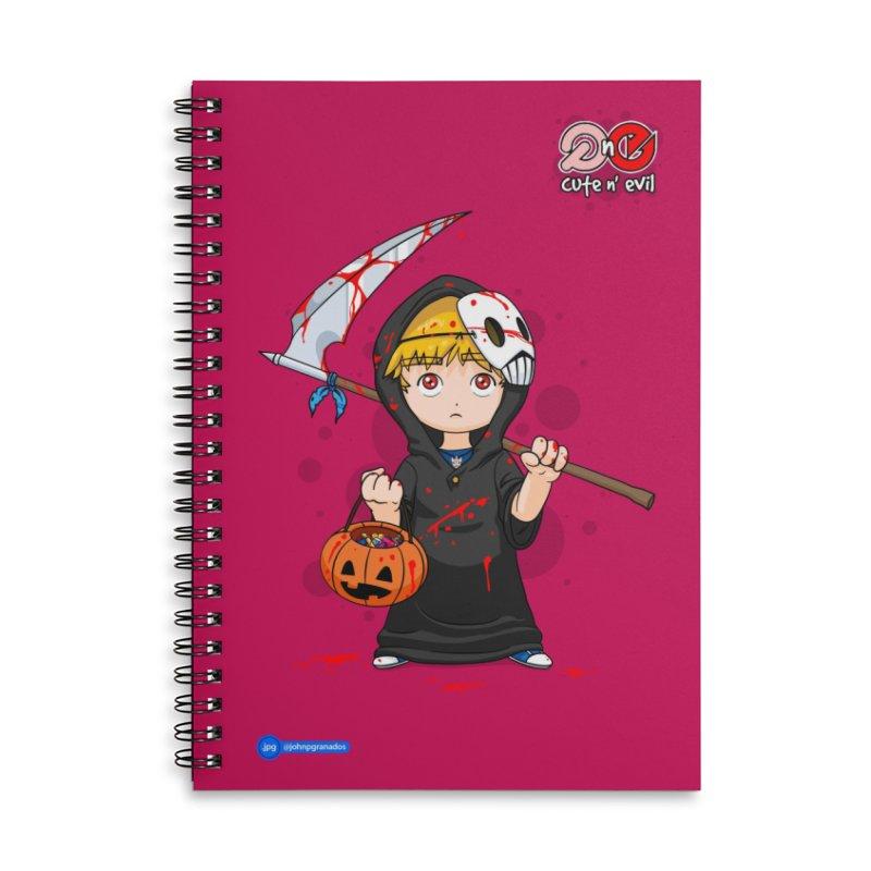 scythe - cute n' evil Accessories Lined Spiral Notebook by Juan Pablo Granados - .jpg