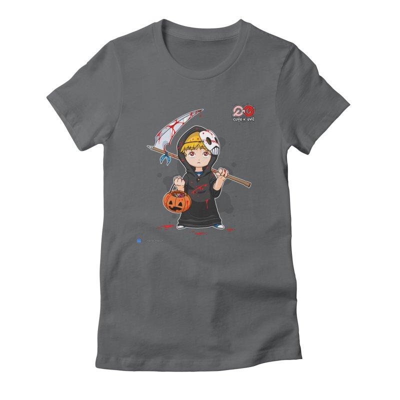 scythe - cute n' evil Women's Fitted T-Shirt by Artist Shop.jpg