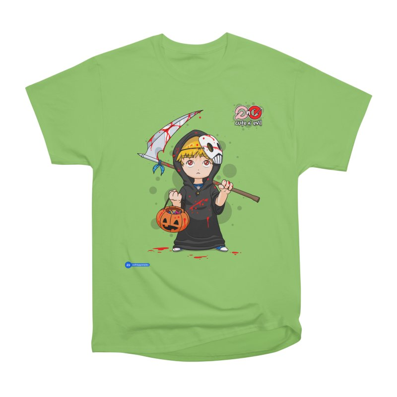scythe - cute n' evil Men's Heavyweight T-Shirt by Juan Pablo Granados - .jpg