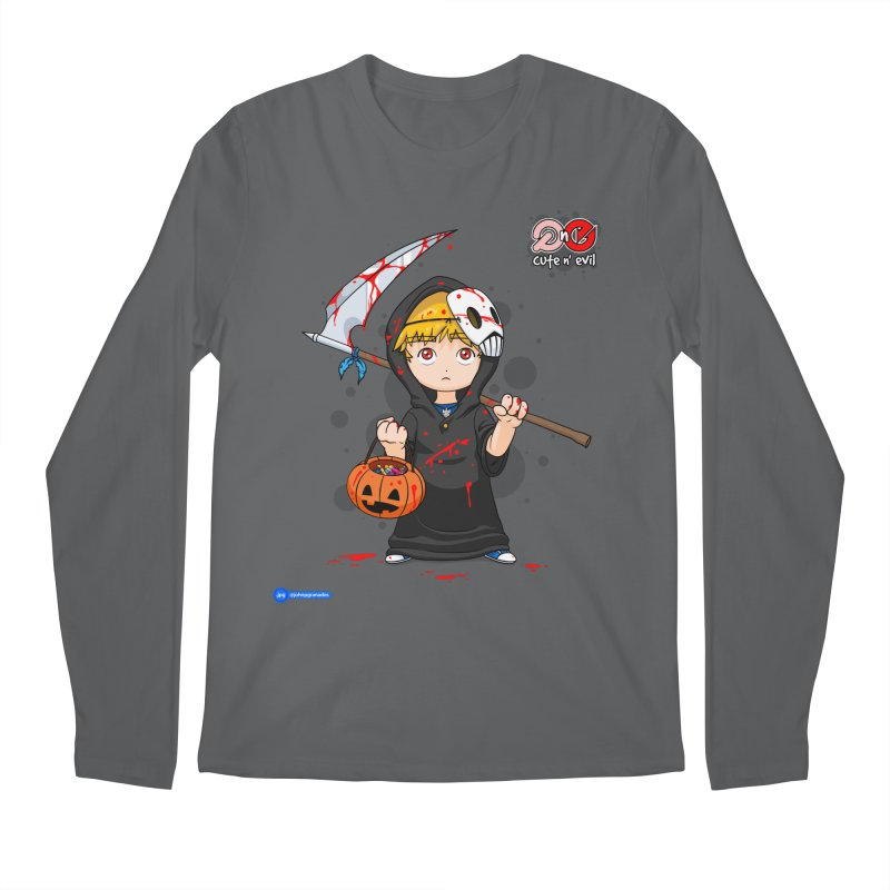 scythe - cute n' evil Men's Regular Longsleeve T-Shirt by Juan Pablo Granados - .jpg