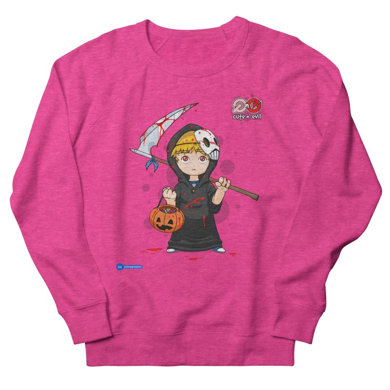 scythe - cute n' evil Women's French Terry Sweatshirt by Juan Pablo Granados - .jpg