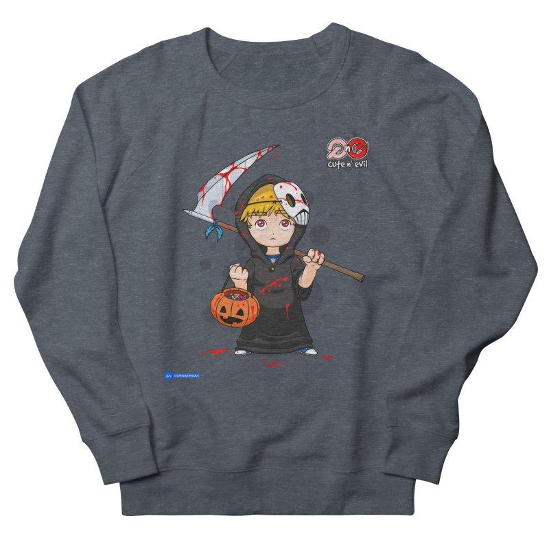 scythe - cute n' evil Men's French Terry Sweatshirt by Juan Pablo Granados - .jpg