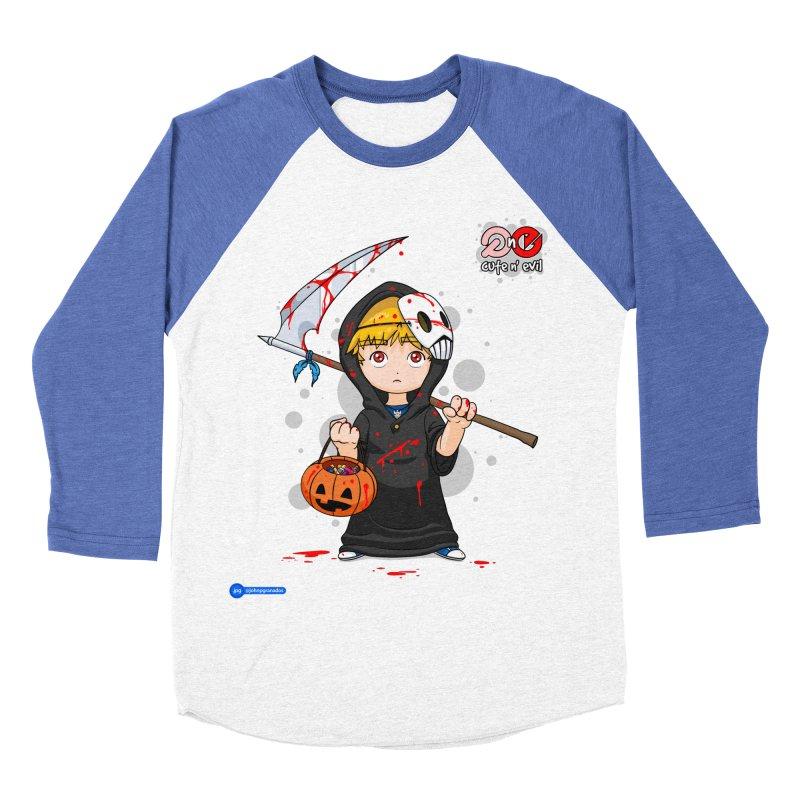scythe - cute n' evil Men's Baseball Triblend Longsleeve T-Shirt by Juan Pablo Granados - .jpg
