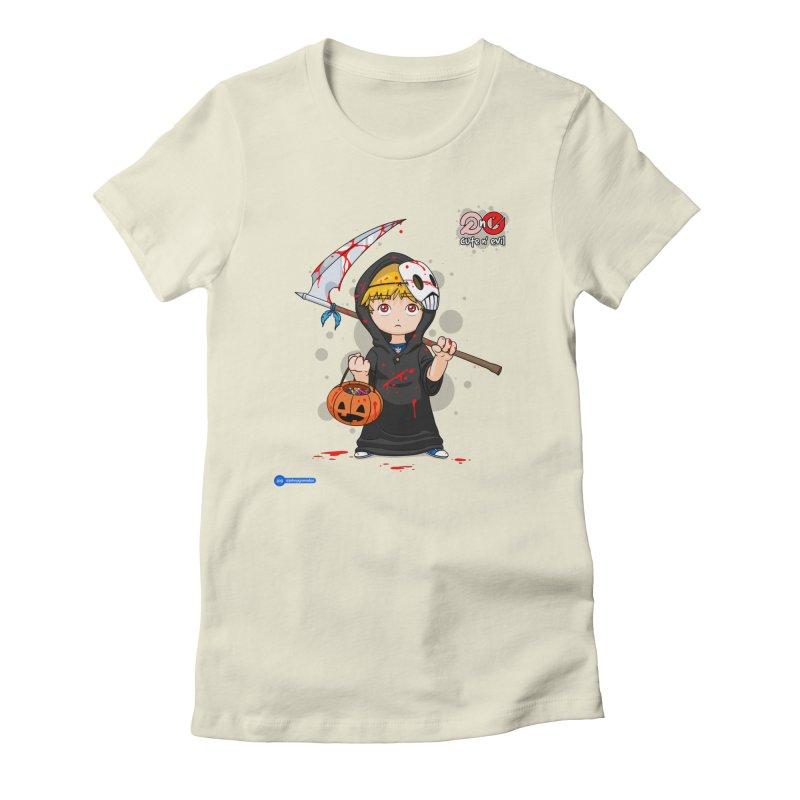 scythe - cute n' evil Women's Fitted T-Shirt by Juan Pablo Granados - .jpg