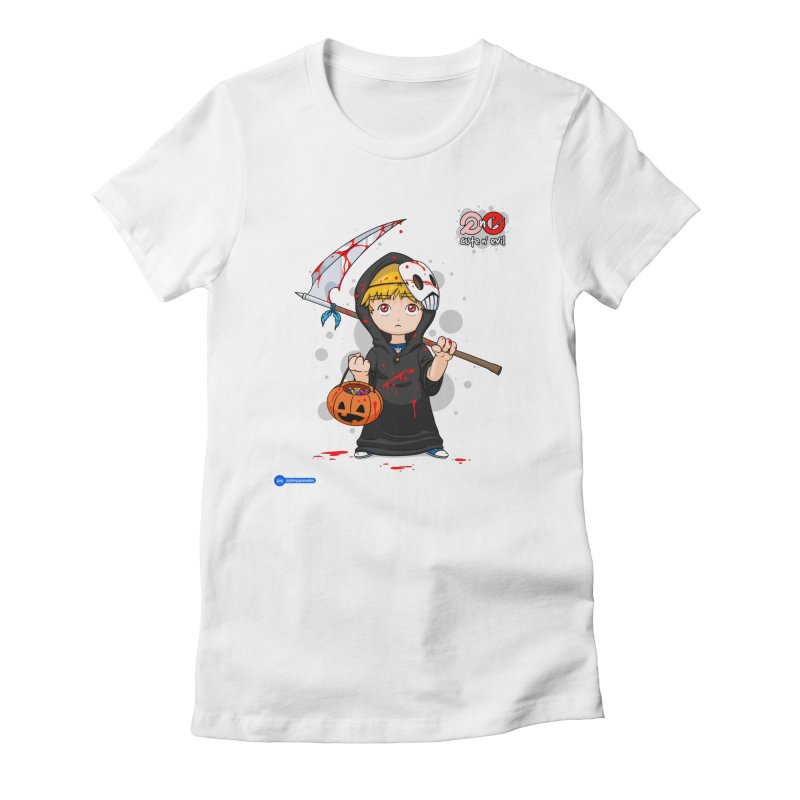 scythe - cute n' evil Women's Fitted T-Shirt by Juan Pablo Granados - .jpg