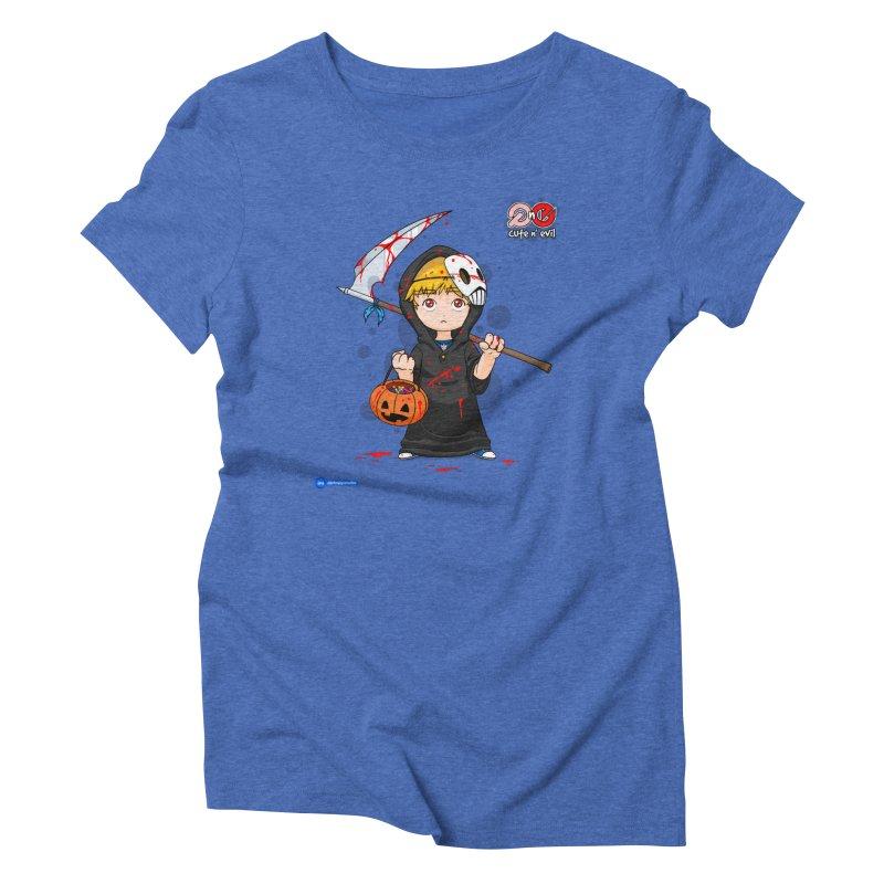 scythe - cute n' evil Women's Triblend T-Shirt by Juan Pablo Granados - .jpg