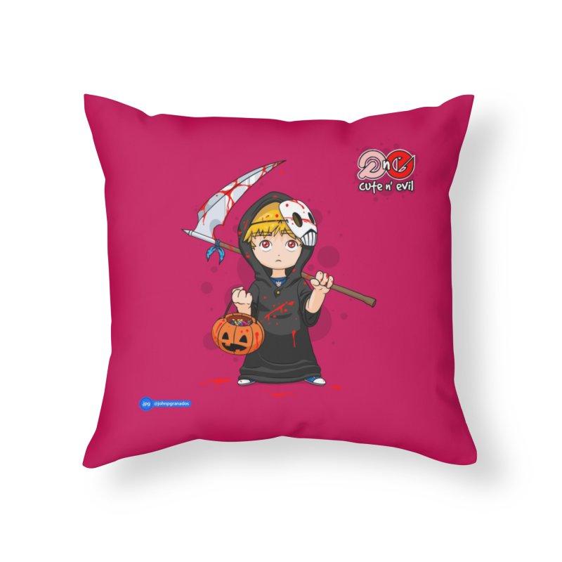 scythe - cute n' evil Home Throw Pillow by Juan Pablo Granados - .jpg