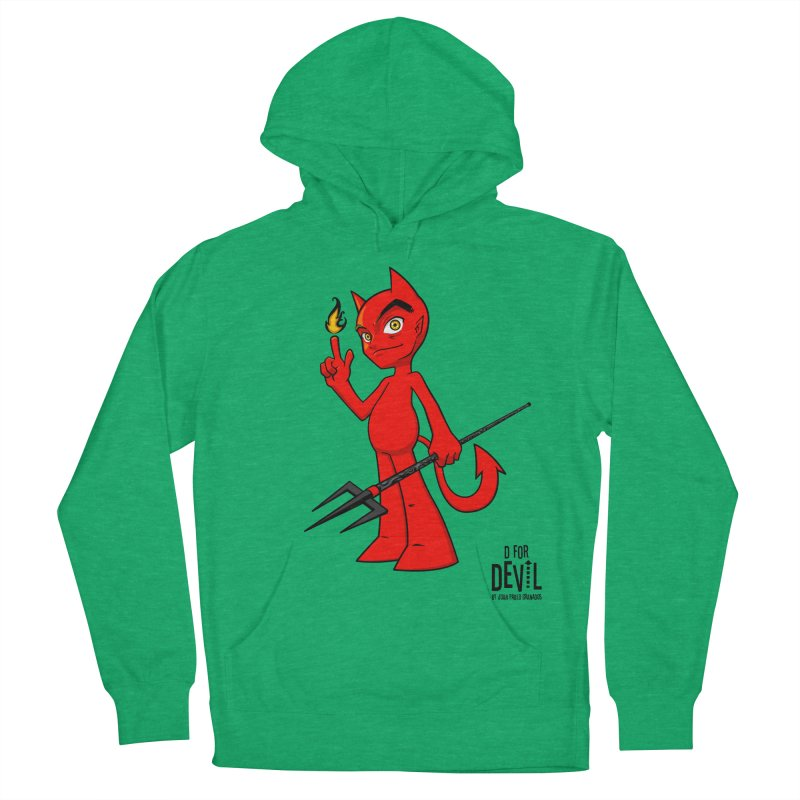 D for Devil - flame Women's French Terry Pullover Hoody by Juan Pablo Granados - .jpg
