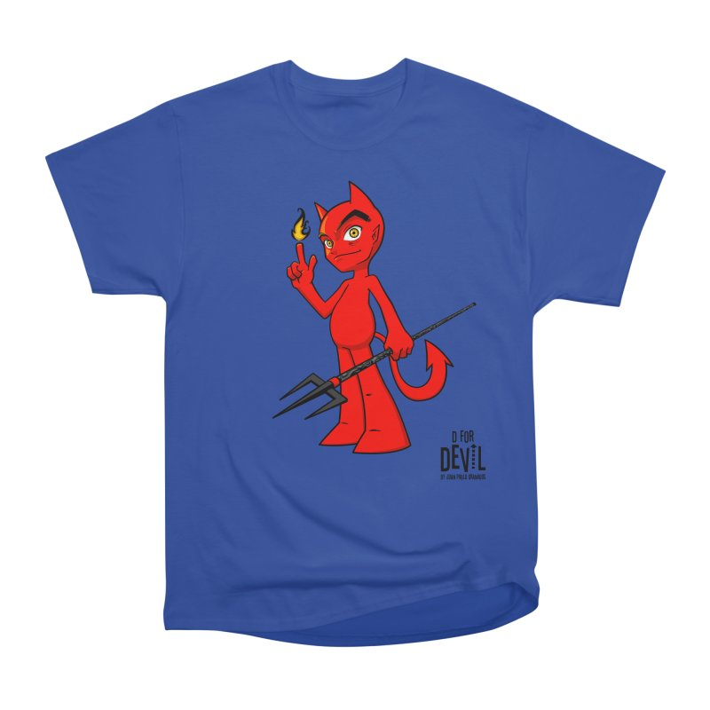 D for Devil - flame Women's Heavyweight Unisex T-Shirt by Juan Pablo Granados - .jpg