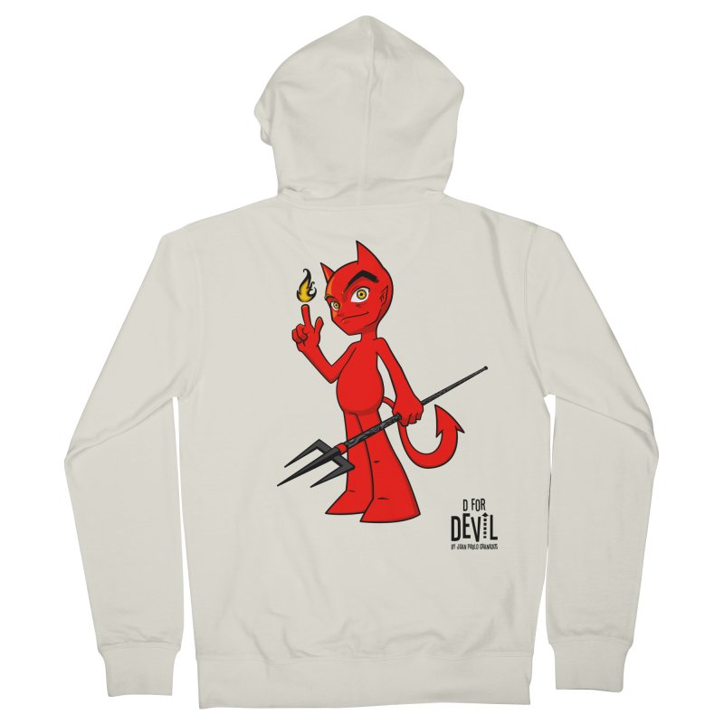 D for Devil - flame Women's French Terry Zip-Up Hoody by Juan Pablo Granados - .jpg
