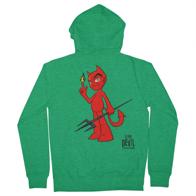 D for Devil - flame Men's French Terry Zip-Up Hoody by Juan Pablo Granados - .jpg