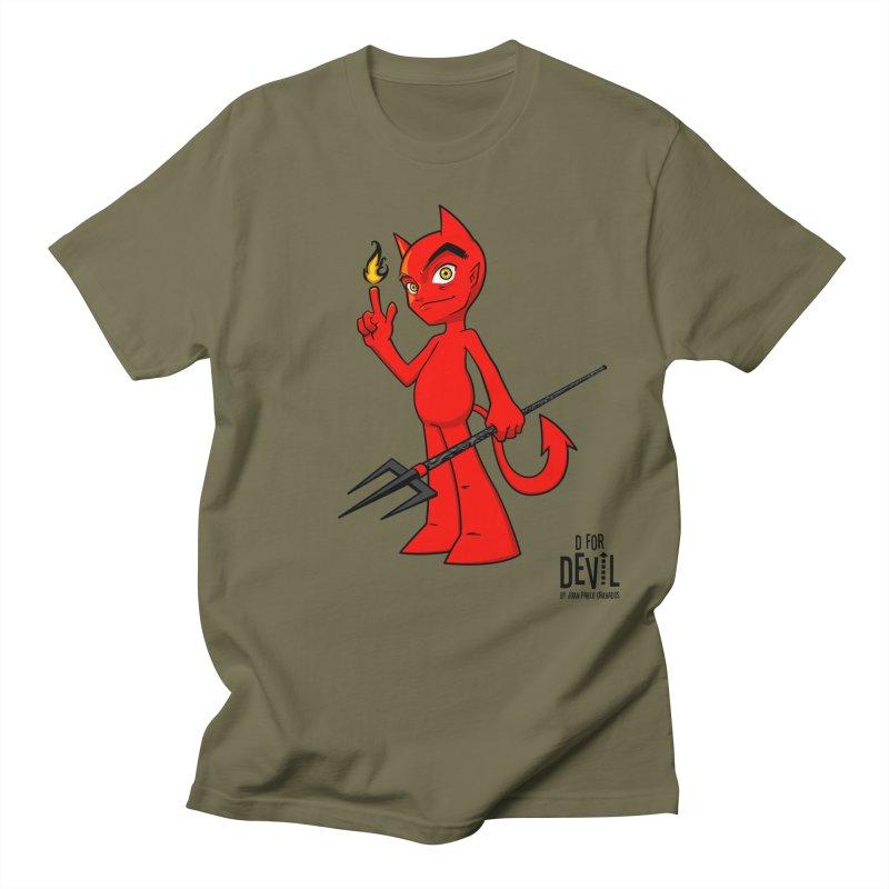 D for Devil - flame Women's Regular Unisex T-Shirt by Juan Pablo Granados - .jpg