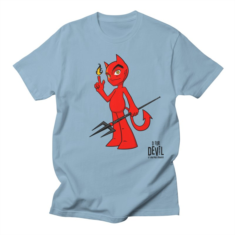 D for Devil - flame Women's Regular Unisex T-Shirt by Juan Pablo Granados - .jpg