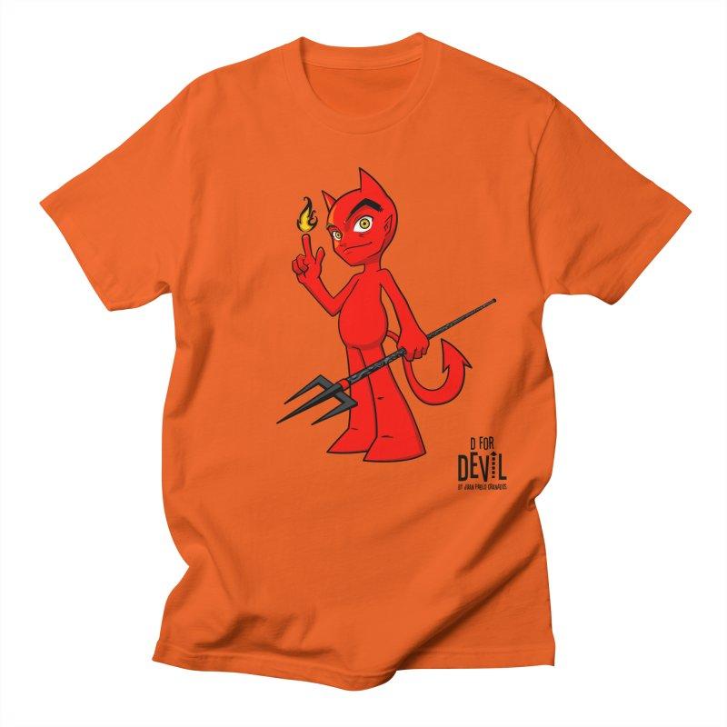 D for Devil - flame Men's Regular T-Shirt by Juan Pablo Granados - .jpg