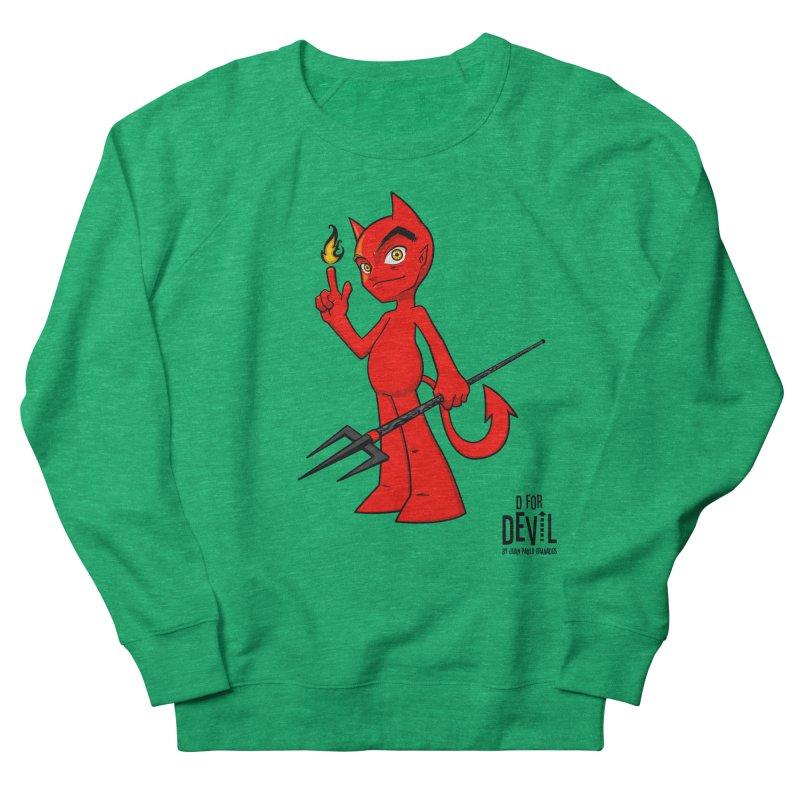 D for Devil - flame Women's Sweatshirt by Juan Pablo Granados - .jpg