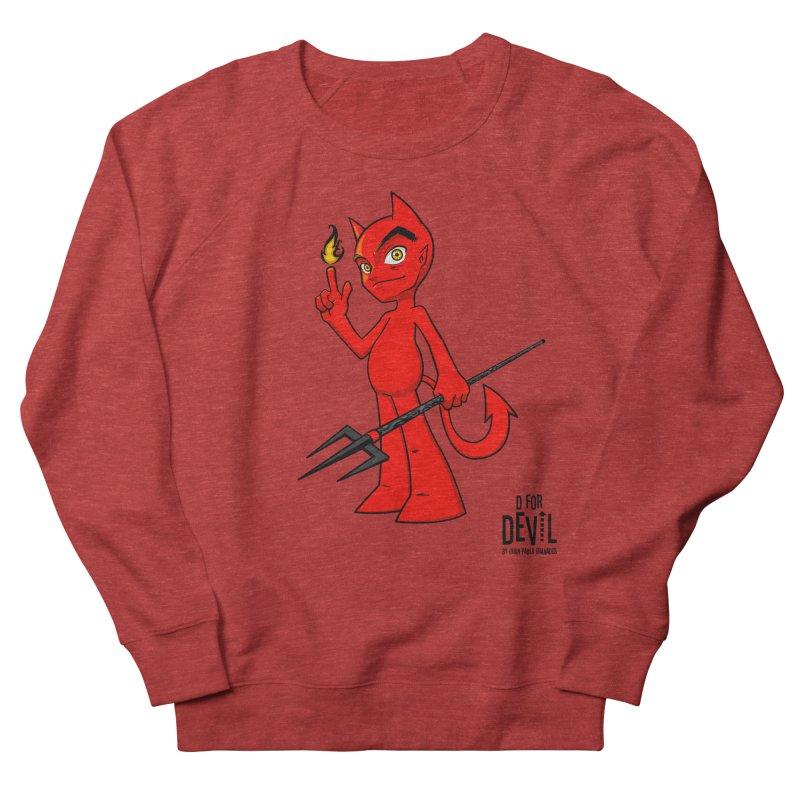 D for Devil - flame Men's French Terry Sweatshirt by Juan Pablo Granados - .jpg