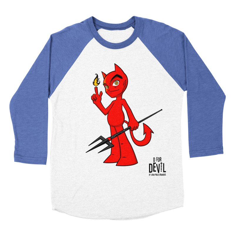 D for Devil - flame Women's Baseball Triblend Longsleeve T-Shirt by Juan Pablo Granados - .jpg