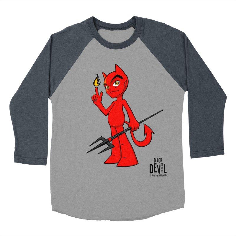 D for Devil - flame Women's Baseball Triblend T-Shirt by Juan Pablo Granados - .jpg