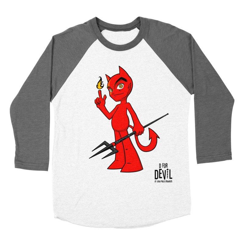 D for Devil - flame Men's Baseball Triblend Longsleeve T-Shirt by Juan Pablo Granados - .jpg