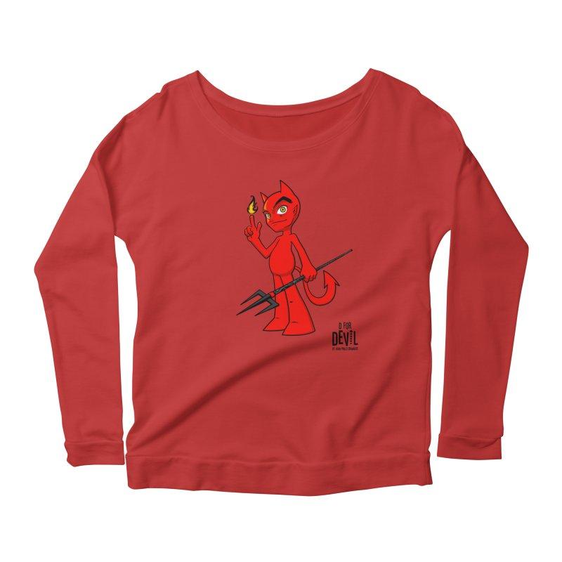 D for Devil - flame Women's Scoop Neck Longsleeve T-Shirt by Juan Pablo Granados - .jpg