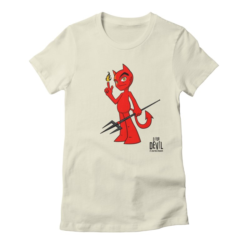 D for Devil - flame Women's Fitted T-Shirt by Juan Pablo Granados - .jpg