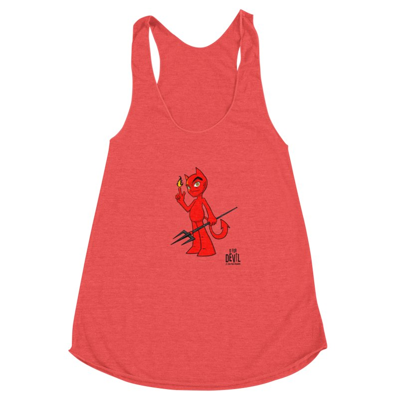 D for Devil - flame Women's Racerback Triblend Tank by Juan Pablo Granados - .jpg