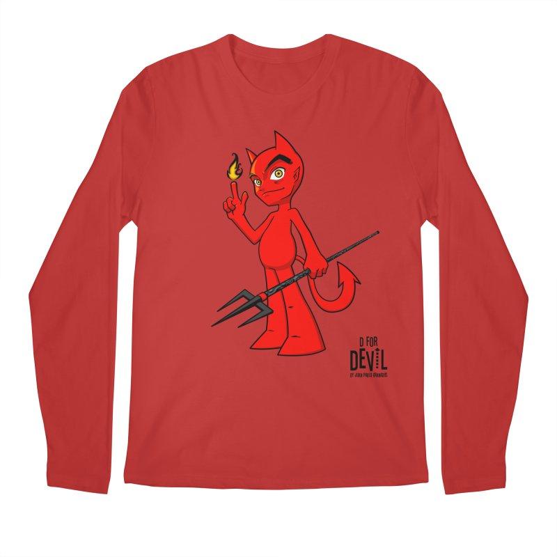 D for Devil - flame [RED colors & accessories] Men's Longsleeve T-Shirt by Juan Pablo Granados - .jpg