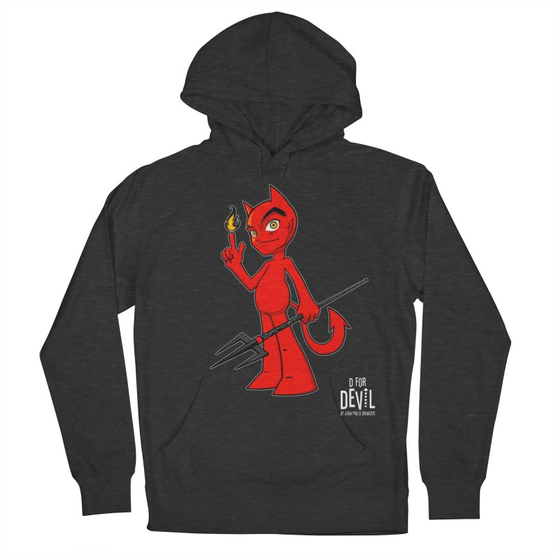 D for Devil - flame [DARK colors & accessories] Men's French Terry Pullover Hoody by Juan Pablo Granados - .jpg