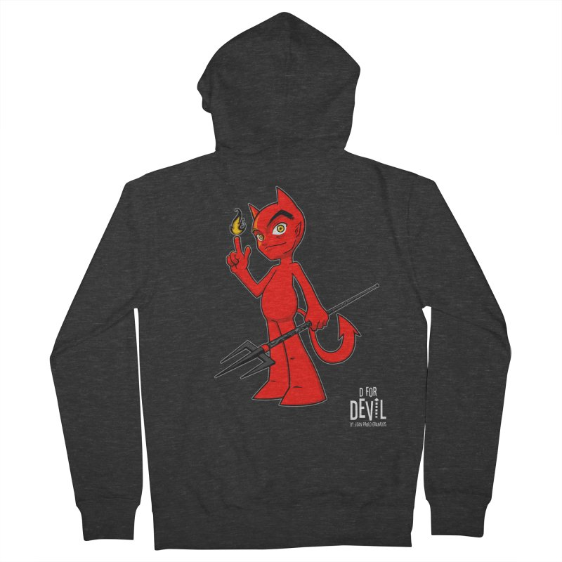 D for Devil - flame [DARK colors & accessories] Men's French Terry Zip-Up Hoody by Juan Pablo Granados - .jpg