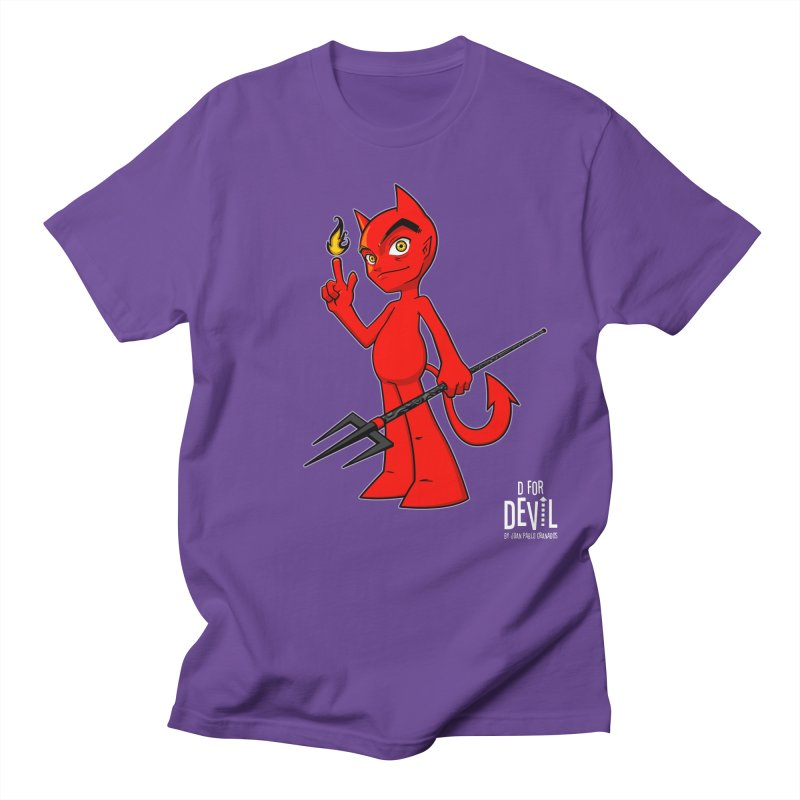 D for Devil - flame [DARK colors & accessories] Women's Regular Unisex T-Shirt by Juan Pablo Granados - .jpg