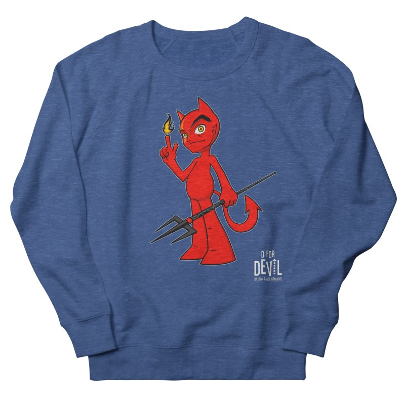 D for Devil - flame [DARK colors & accessories] Women's French Terry Sweatshirt by Juan Pablo Granados - .jpg