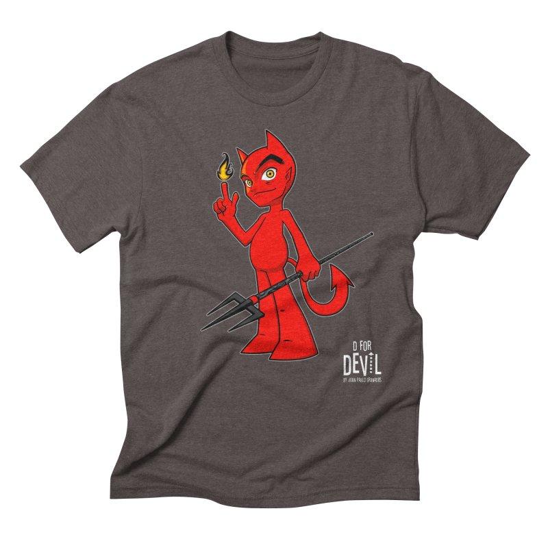 D for Devil - flame [DARK colors & accessories] Men's Triblend T-Shirt by Juan Pablo Granados - .jpg