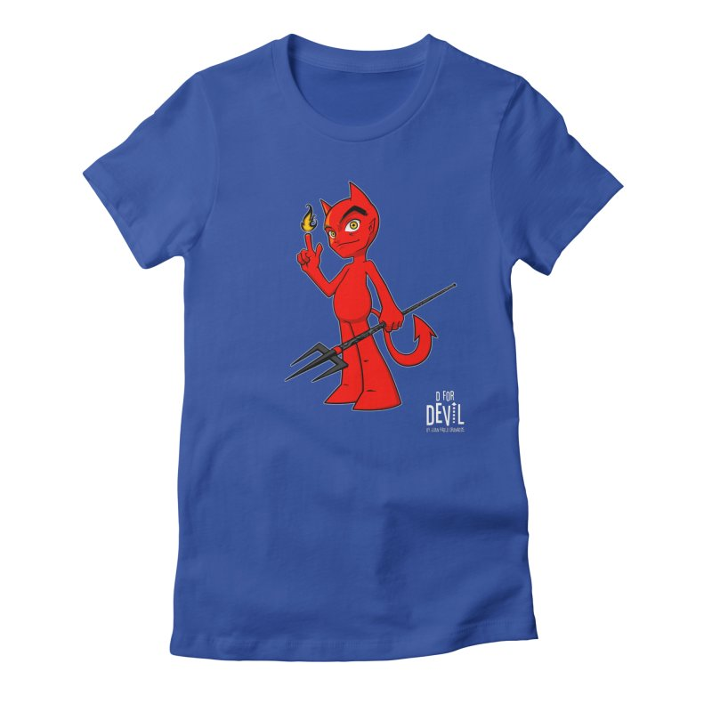 D for Devil - flame [DARK colors & accessories] Women's Fitted T-Shirt by Juan Pablo Granados - .jpg