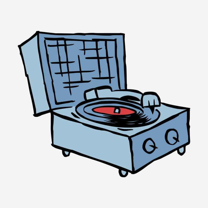 Record Player Tee - blue by John Sauer - Artist Shop