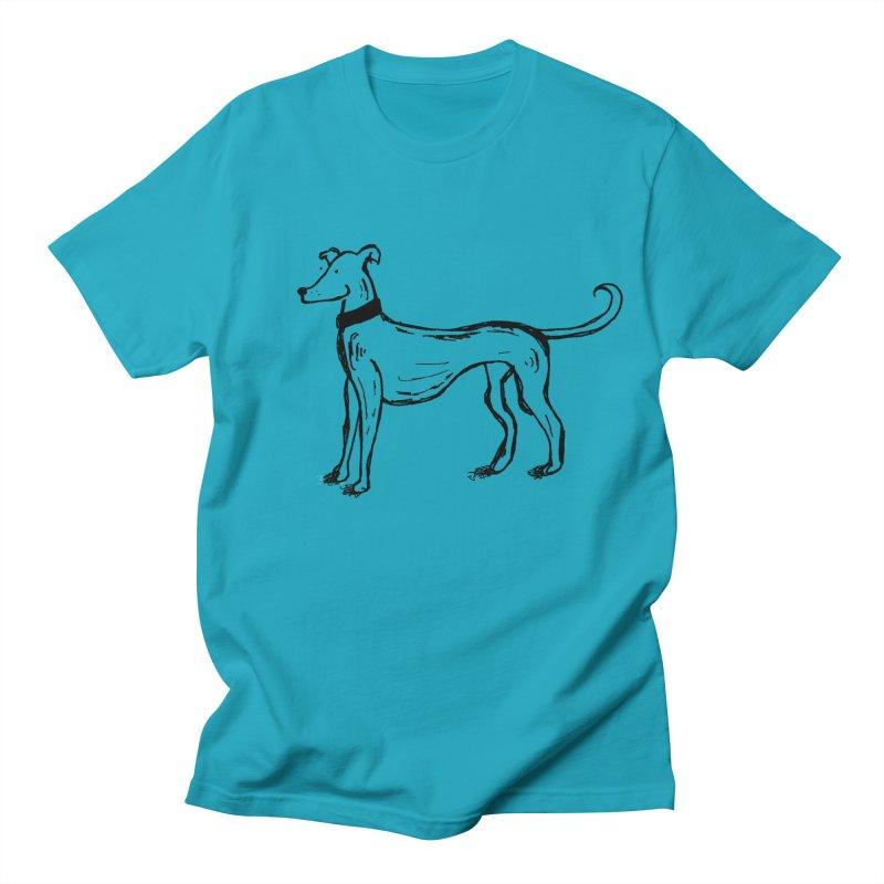Greyhound Men's T-Shirt by John Spencer's Artist Shop