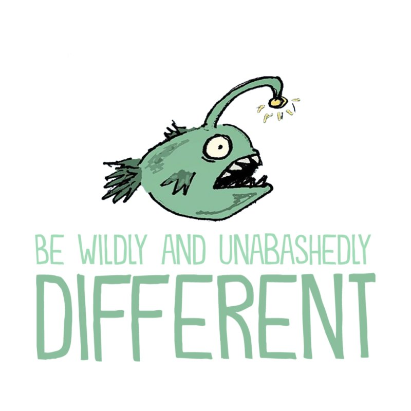 Be Wildly and Unabashedly Different Men's T-Shirt by John Spencer's Artist Shop