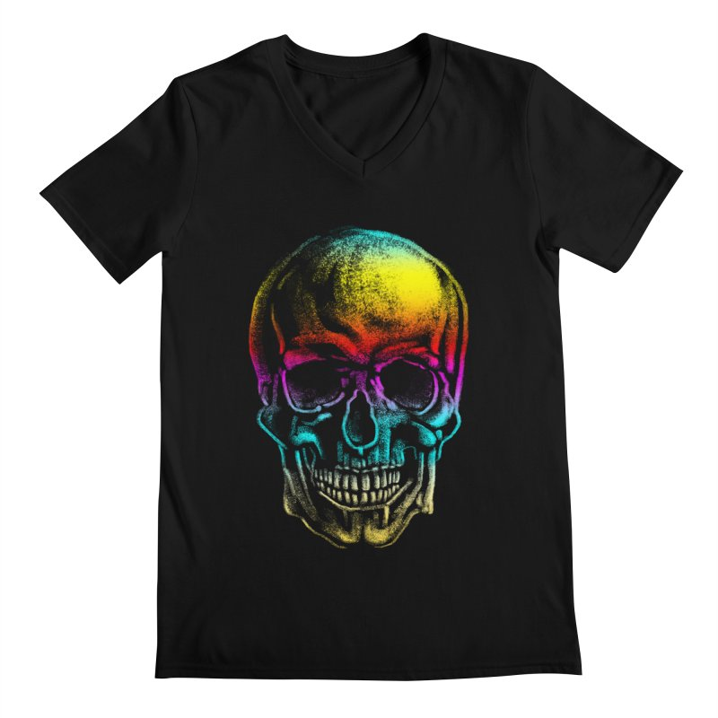 Drawn Death Men's Regular V-Neck by Johnthan's Supply