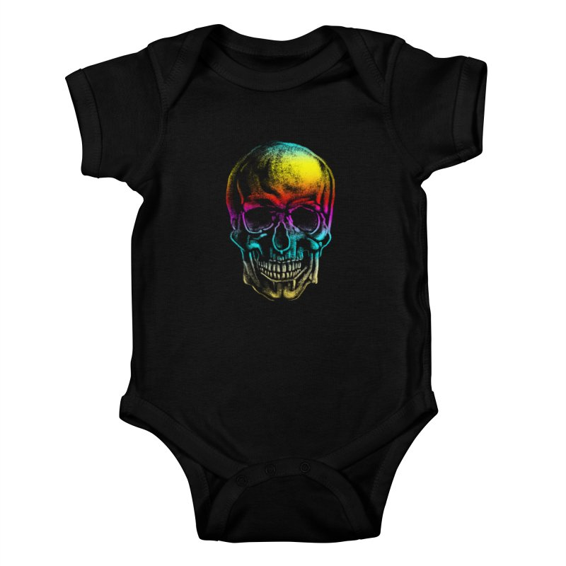 Drawn Death Kids Baby Bodysuit by Johnthan's Supply