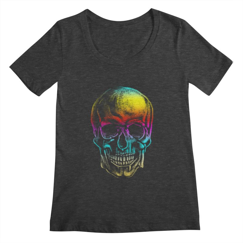 Drawn Death Women's Scoopneck by Johnthan's Supply