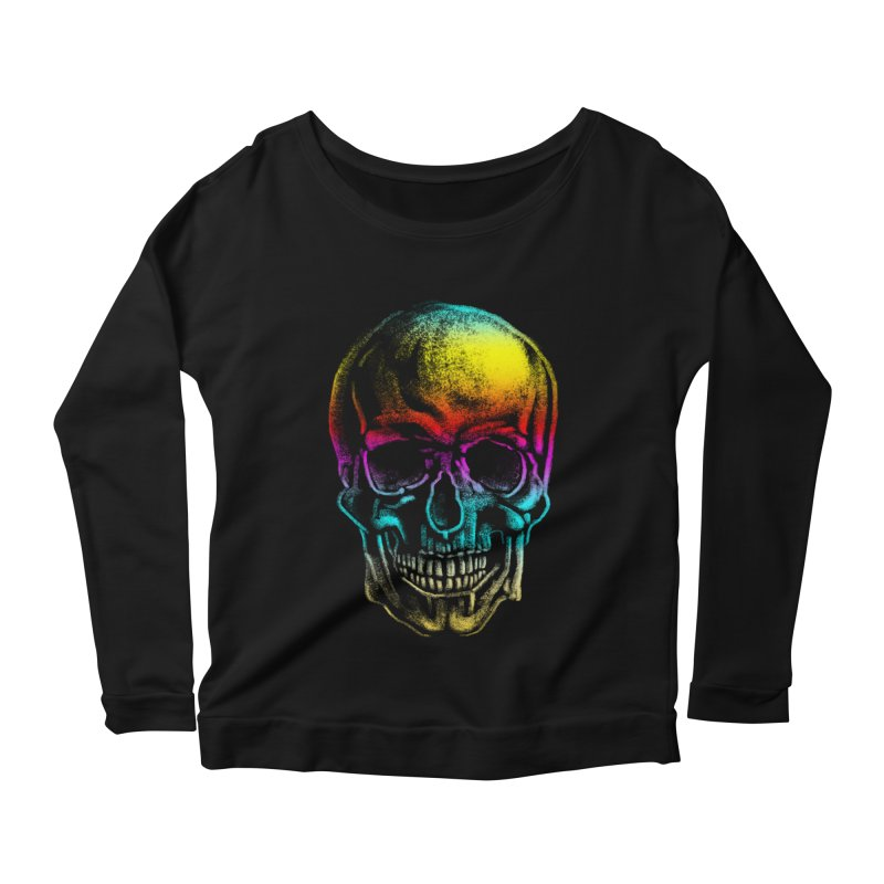 Drawn Death Women's Scoop Neck Longsleeve T-Shirt by Johnthan's Supply
