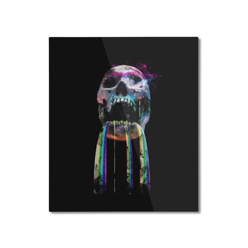 Cry me a rainbow Home Mounted Aluminum Print by Johnthan's Supply