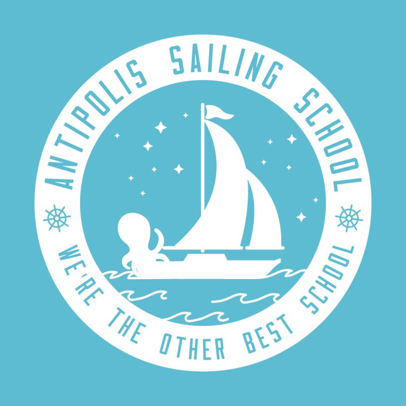 Antipolis Sailing School - White by jointhepartypod's Artist Shop