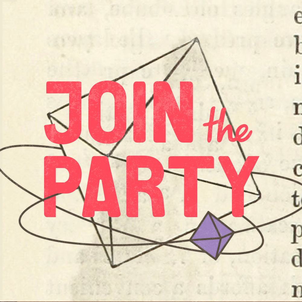 Join The Party Pod's Artist Shop Logo