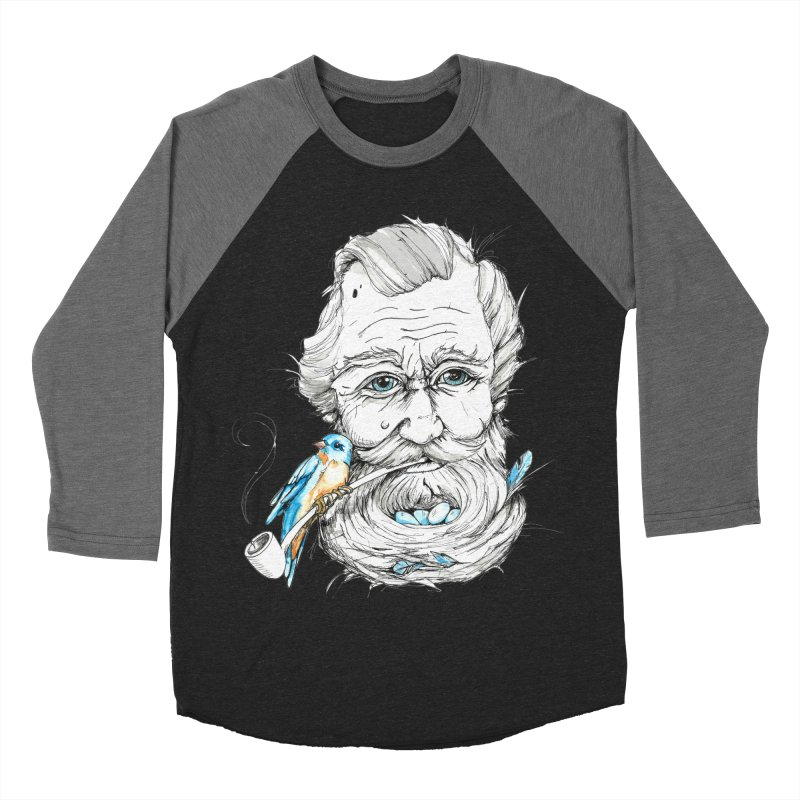 Beards Nest Women's Baseball Triblend Longsleeve T-Shirt by jojostudio's Artist Shop