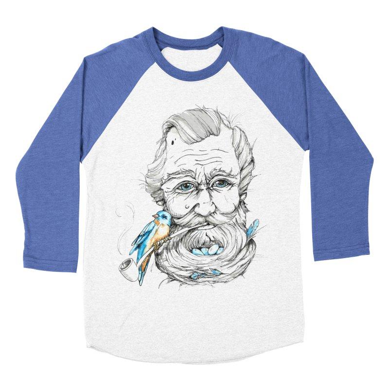 Beards Nest Men's Baseball Triblend T-Shirt by jojostudio's Artist Shop