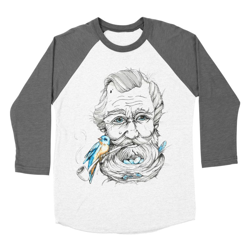 Beards Nest Men's Baseball Triblend T-Shirt by jojostudio's Artist Shop