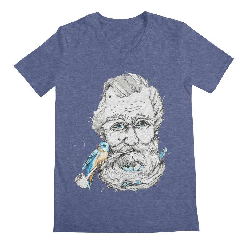 Beards Nest Men's V-Neck by jojostudio's Artist Shop
