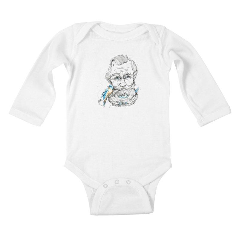Beards Nest Kids Baby Longsleeve Bodysuit by jojostudio's Artist Shop