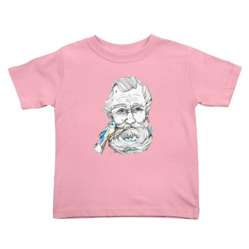 Beards Nest Kids Toddler T-Shirt by jojostudio's Artist Shop